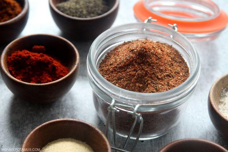 Homemade seasoning in a swing top jar